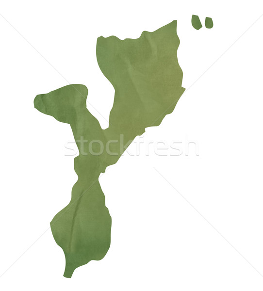 Old green paper map of Mozambique Stock photo © speedfighter