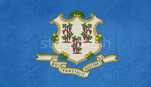 Grunge Connecticut state flag Stock photo © speedfighter