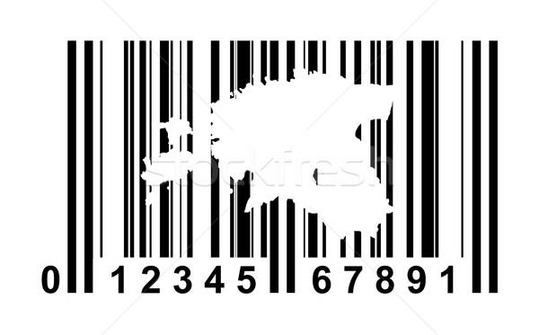 Estland streepjescode winkelen geïsoleerd witte reizen Stockfoto © speedfighter