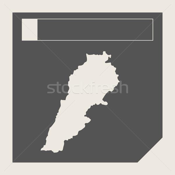 Libanon térkép gomb reszponzív web design izolált Stock fotó © speedfighter