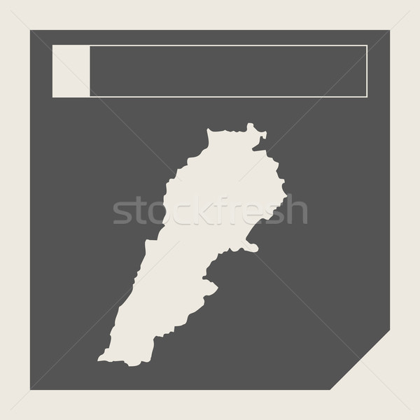 Liban carte bouton sensible web design isolé Photo stock © speedfighter