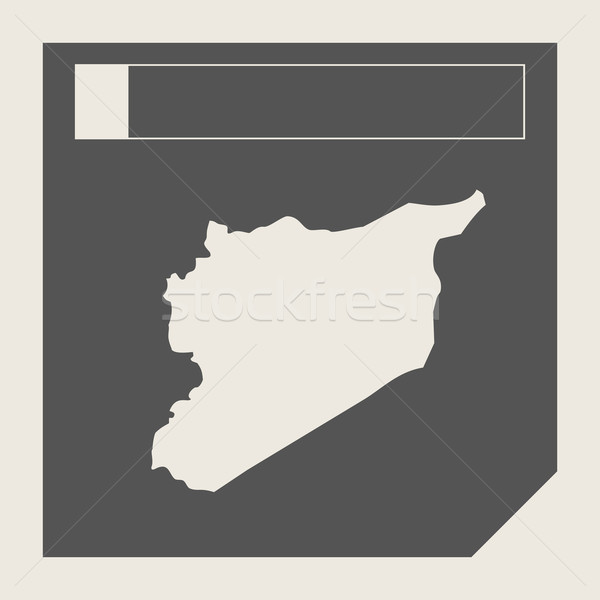 シリア 地図 ボタン 敏感な Webデザイン 孤立した ストックフォト © speedfighter
