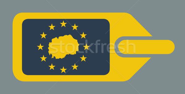 Македонии европейский Камера Label путешествия тег Сток-фото © speedfighter