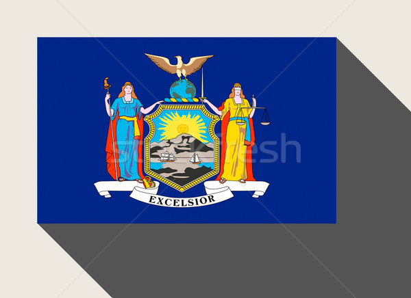 Amerikaanse New York vlag web design stijl knop Stockfoto © speedfighter