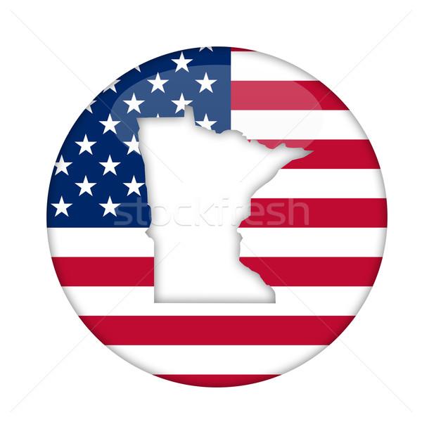 Миннесота Америки Знак изолированный белый бизнеса Сток-фото © speedfighter