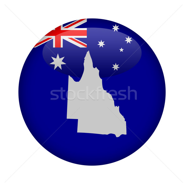 Australie queensland carte bouton blanche Europe Photo stock © speedfighter