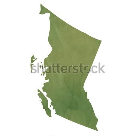 Velho verde papel mapa Guatemala isolado Foto stock © speedfighter
