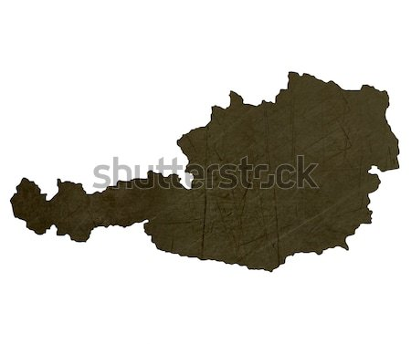 Kaart Letland bruin rock steen Stockfoto © speedfighter