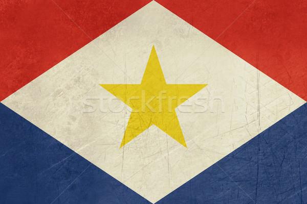 Grunge Saba Flag Stock photo © speedfighter