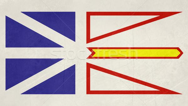 Grunge nowa fundlandia labrador banderą ilustracja Kanada Zdjęcia stock © speedfighter