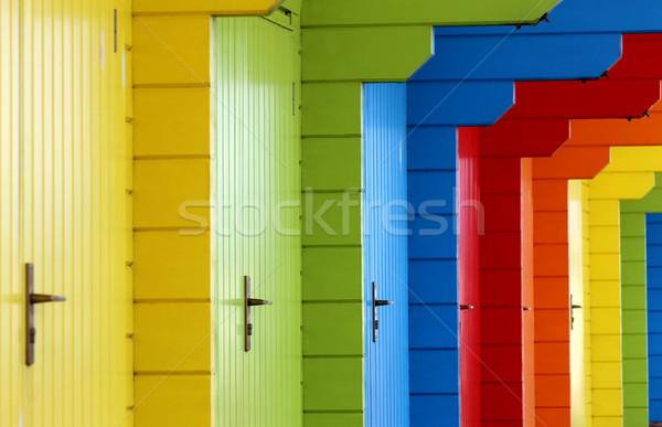 Foto stock: Colorido · praia · férias · férias