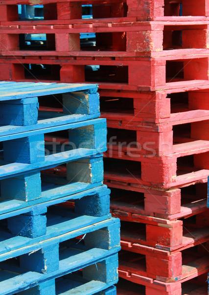 Wooden pallets Stock photo © speedfighter
