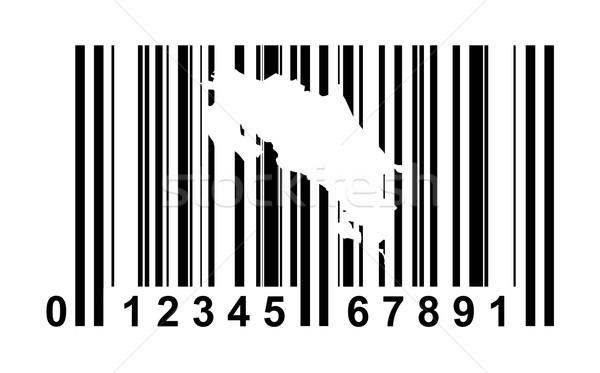Costa Rica código de barras compras isolado branco viajar Foto stock © speedfighter