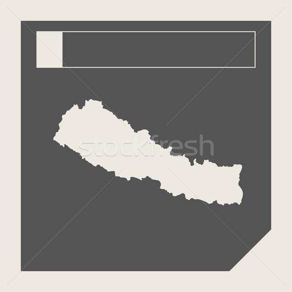 Nepál térkép gomb reszponzív web design izolált Stock fotó © speedfighter