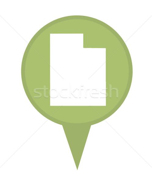 ユタ州 地図 ピン アメリカン マーカー 孤立した ストックフォト © speedfighter