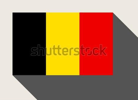 Belgium zászló web design stílus gomb Stock fotó © speedfighter