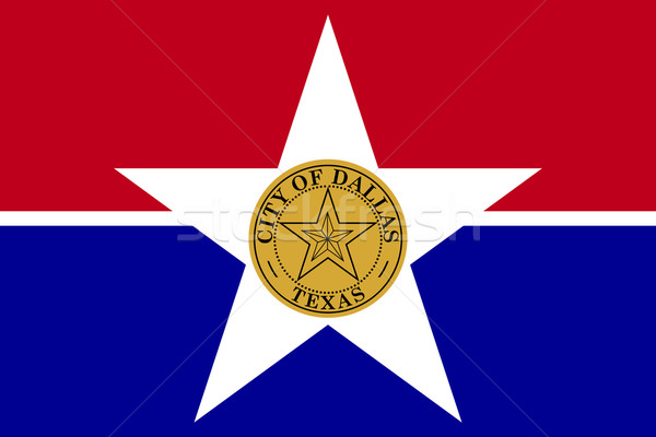 Dallas stad vlag reizen amerika banner Stockfoto © speedfighter