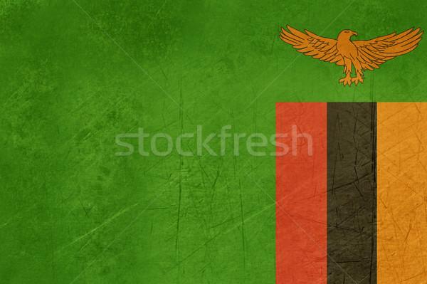 Гранж Замбия флаг стране официальный цветами Сток-фото © speedfighter