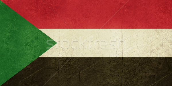 Grunge Sudan Flag Stock photo © speedfighter