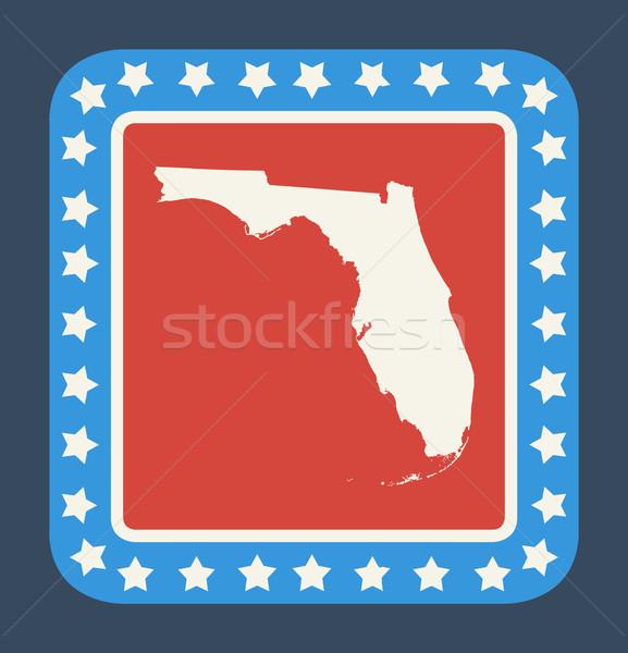 Flórida botão bandeira americana web design estilo isolado Foto stock © speedfighter