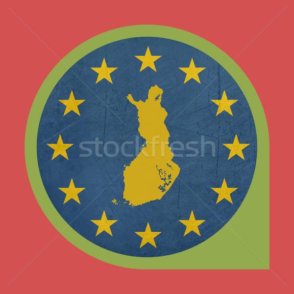 Avrupa sendika Finlandiya işaretleyici pin düğme Stok fotoğraf © speedfighter