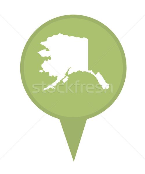 Alaska carte broches marqueur isolé Photo stock © speedfighter