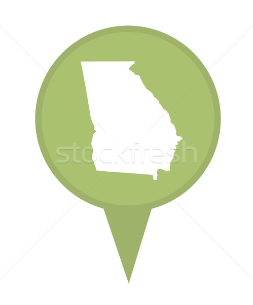 Geórgia mapa pin americano marcador isolado Foto stock © speedfighter