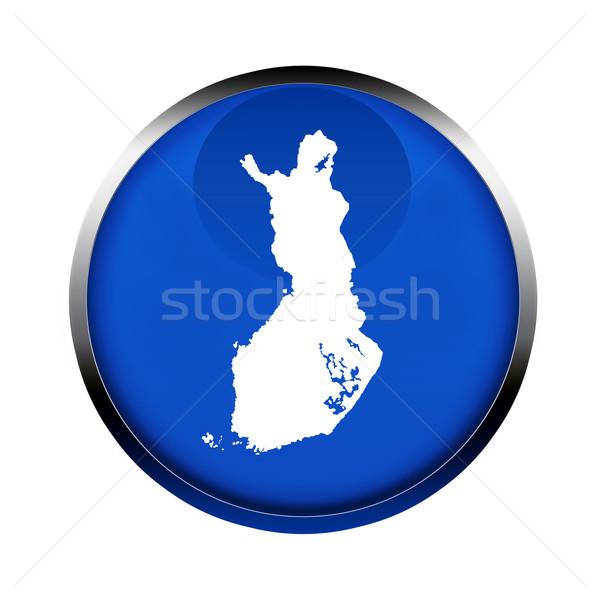 Finlândia mapa botão cores europeu união Foto stock © speedfighter