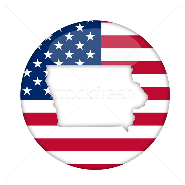 Айова Америки Знак изолированный белый бизнеса Сток-фото © speedfighter