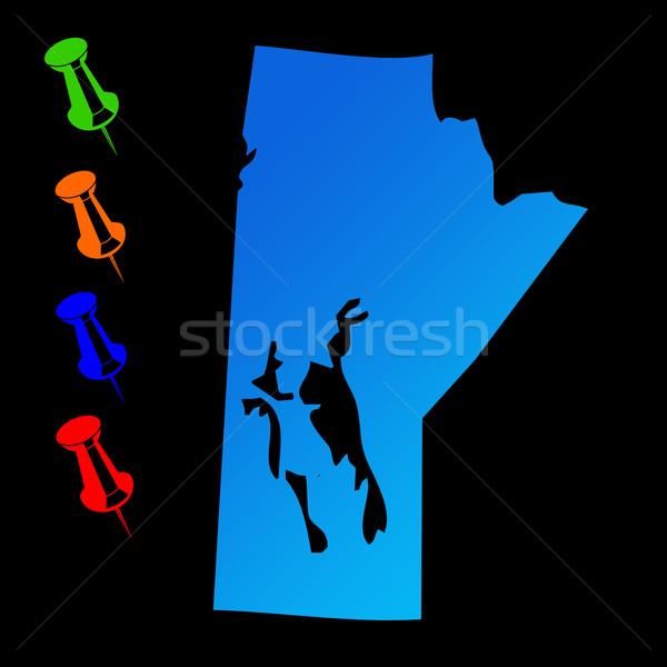 Manitoba travel map Stock photo © speedfighter