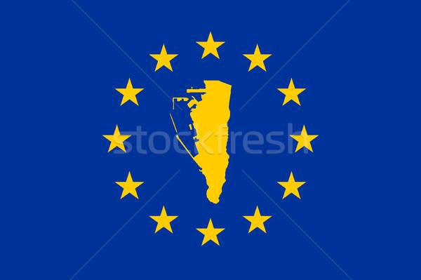 Gibraltar europejski banderą Pokaż Unii żółty Zdjęcia stock © speedfighter