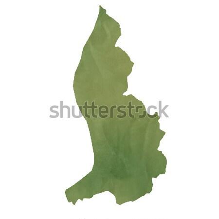 Liechtenstein map on green paper Stock photo © speedfighter