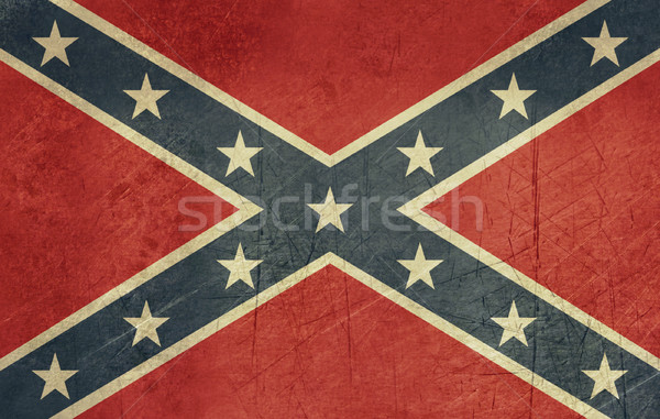 Grunge Confederate Flag Stock photo © speedfighter