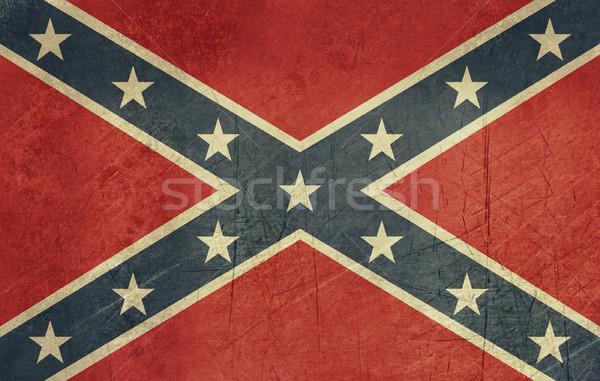 Гранж флаг мятежник южный Америки официальный Сток-фото © speedfighter