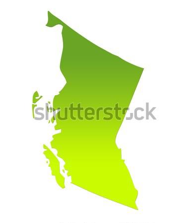 Delaware americano isolado branco mapa Foto stock © speedfighter