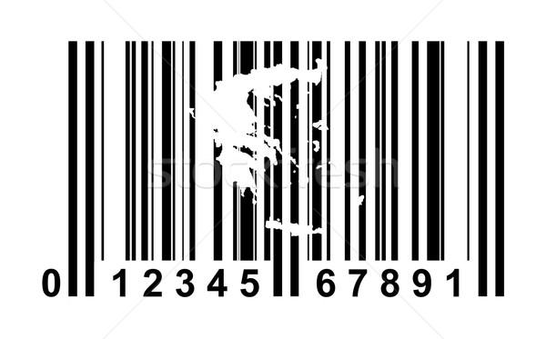 ギリシャ バーコード ショッピング 孤立した 白 ビジネス ストックフォト © speedfighter