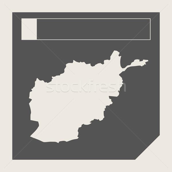 Afghanistan Karte Taste ansprechbar Web-Design isoliert Stock foto © speedfighter