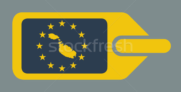 Malta europese bagage label reizen tag Stockfoto © speedfighter
