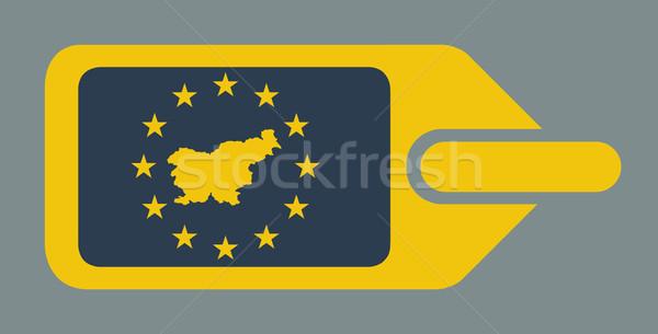 スロベニア ヨーロッパの 荷物 ラベル 旅行 タグ ストックフォト © speedfighter