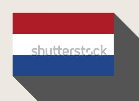 Hollandia zászló web design stílus gomb izolált Stock fotó © speedfighter