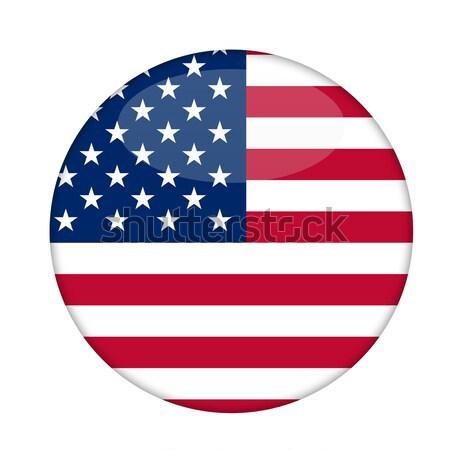 Amerykański gwiazdki odznakę odizolowany biały Zdjęcia stock © speedfighter