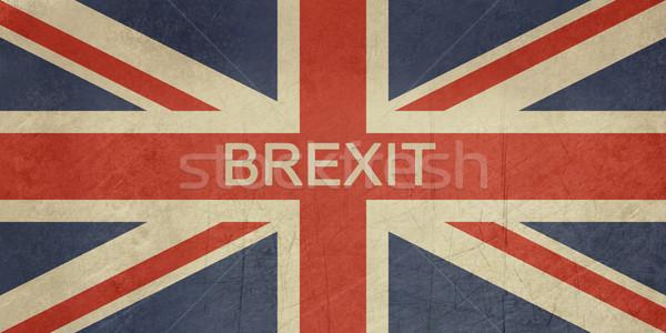 Grunge Egyesült Királyság zászló Nagy-Britannia brit zászló piros Stock fotó © speedfighter