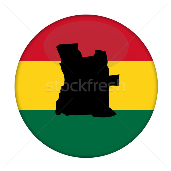 Angola map on a Rastafarian flag button Stock photo © speedfighter