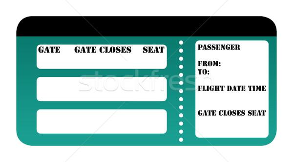 Beszállás passz izolált fehér jegy kártya Stock fotó © speedfighter