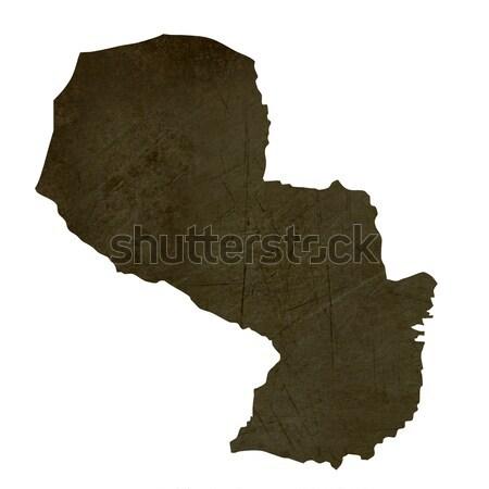 Pokaż Paragwaj brązowy rock kamień Zdjęcia stock © speedfighter