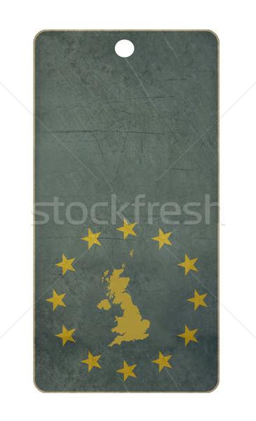 Regno Unito viaggio tag isolato bianco copia spazio Foto d'archivio © speedfighter
