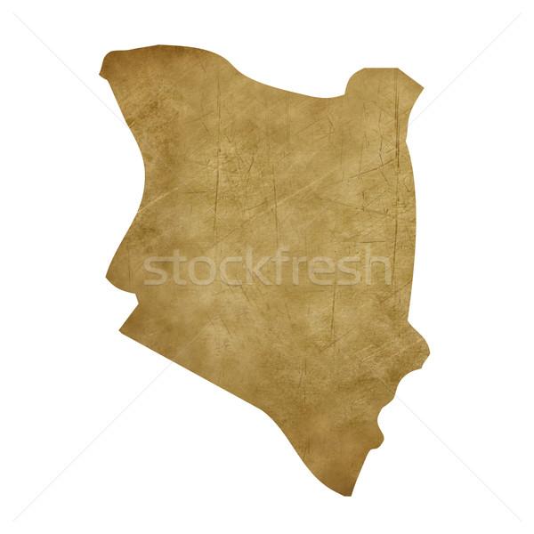 Kenya grunge treasure harita harita hazine stil Stok fotoğraf © speedfighter