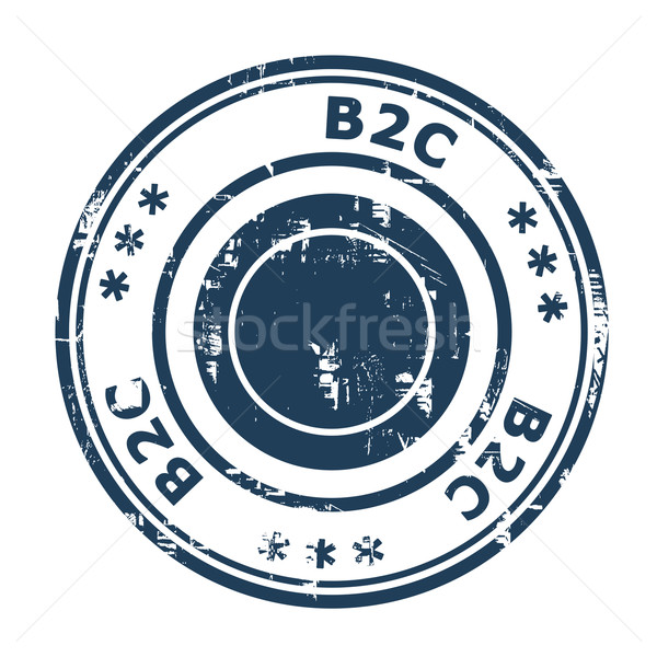 B2C concept stamp Stock photo © speedfighter