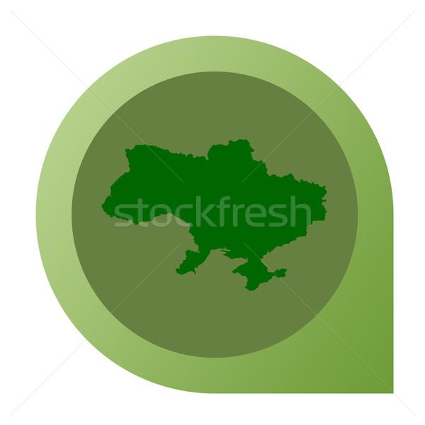 Izolált Ukrajna térkép jelző tő web design Stock fotó © speedfighter