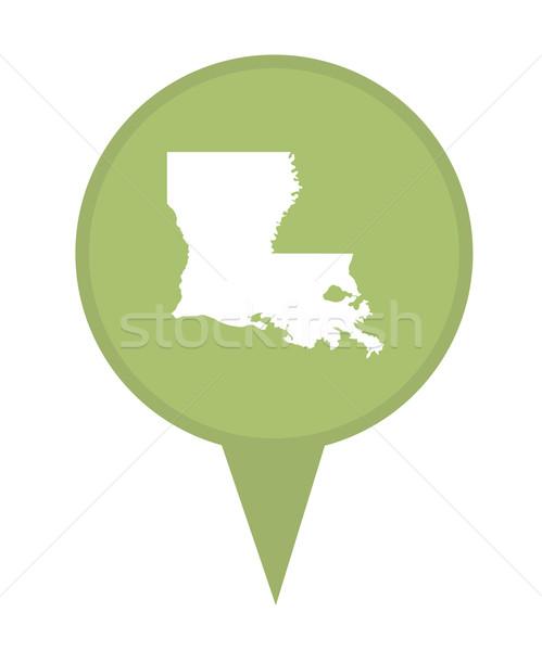 State of Louisiana map pin Stock photo © speedfighter